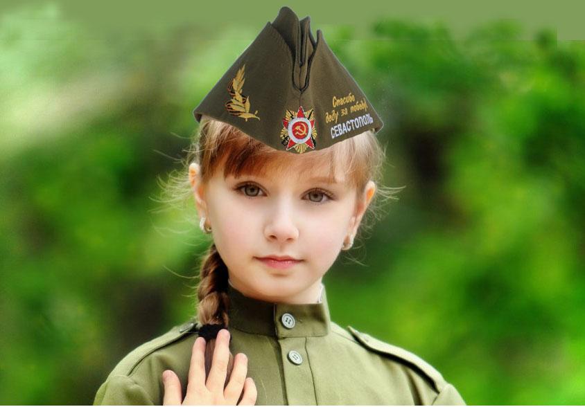 Пилотка у девочке