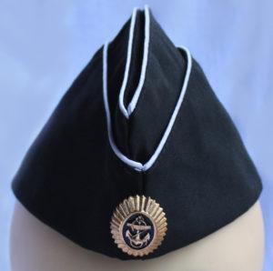 Пилотка черная офицерская с кокардой орешек