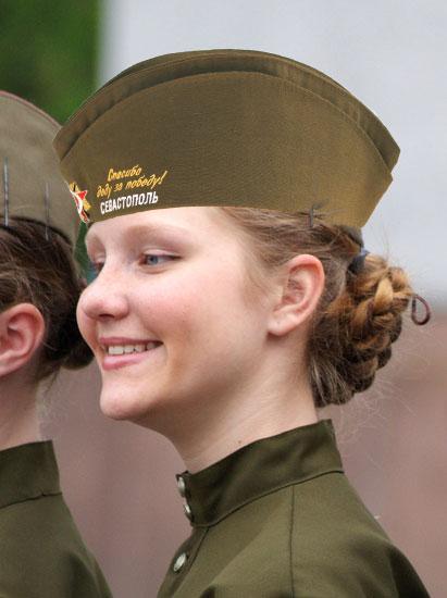 Пилотка зеленая военная Спасибо деду за Победу Севастополь в профиль