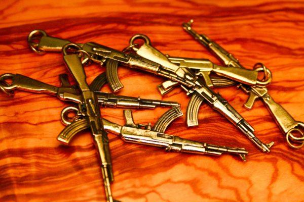 Брелок АК-47 из латуни