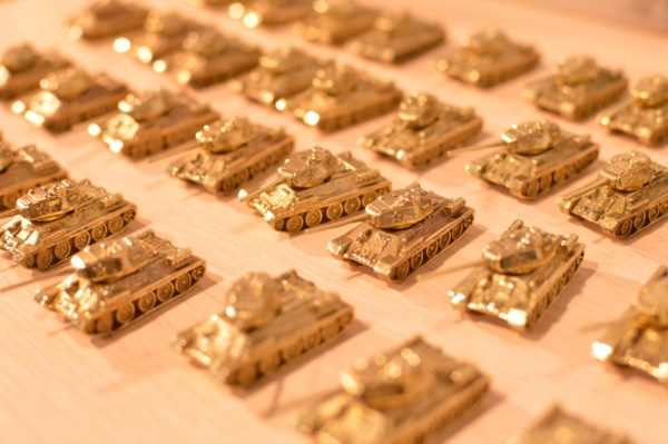 Танк Т-34 сувенирный из латуни