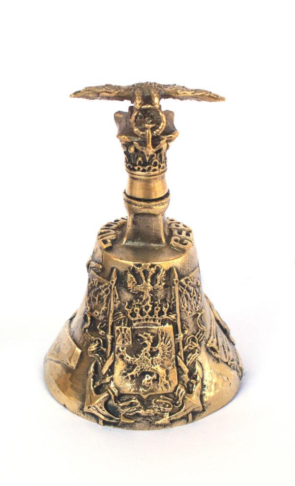 Колокольчик Севастополь из латуни с двуглавым орлом большой