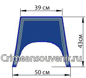 Уставной гюйс форменный воротник cхема