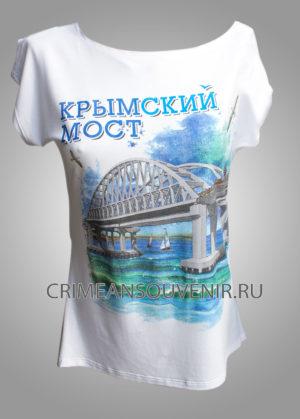 Футболка Крымский мост в Керчи женская