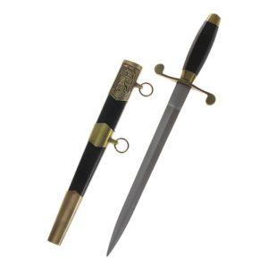 Сувенирный морской кортик с черной ручкой