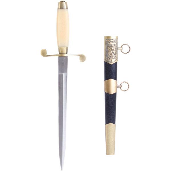 Сувенирный морской кортик с белой ручкой