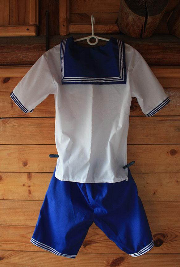 Детский военный костюм моряка фланка форменка гюйс якоря корабль