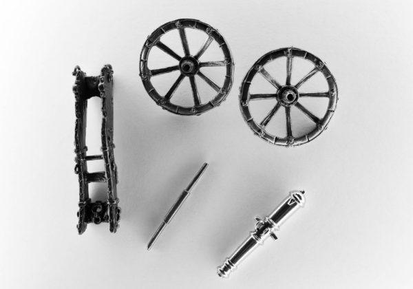 Пушка из латуни 12-ф. системы Грибоваля