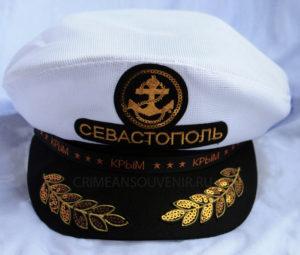 """Капитанка """"Севастополь"""" с лавровыми веточками и кокардой-якорем"""