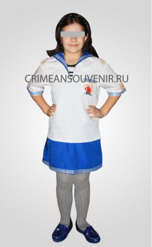 Костюм Морячка Детский военный костюм моряка морячки фланка форменка гюйс якоря корабль