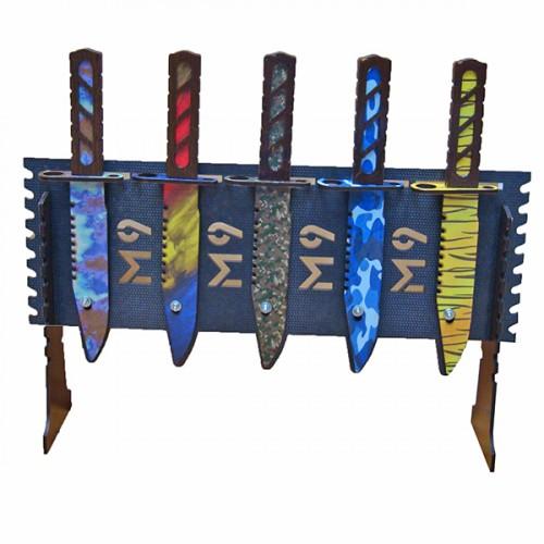 Стенд для игрушек Ножей-штыков из дерева
