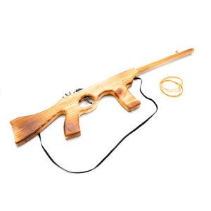"""Игрушка """"Автомат"""" из дерева - резинкострел"""
