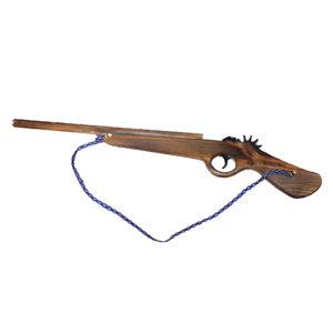 """Игрушка """"Ружье-обрез"""" из дерева - резинкострел"""