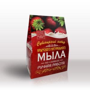 """ТМ """"Крымская линия"""" - Подарочный набор мыла: «На сливках»"""