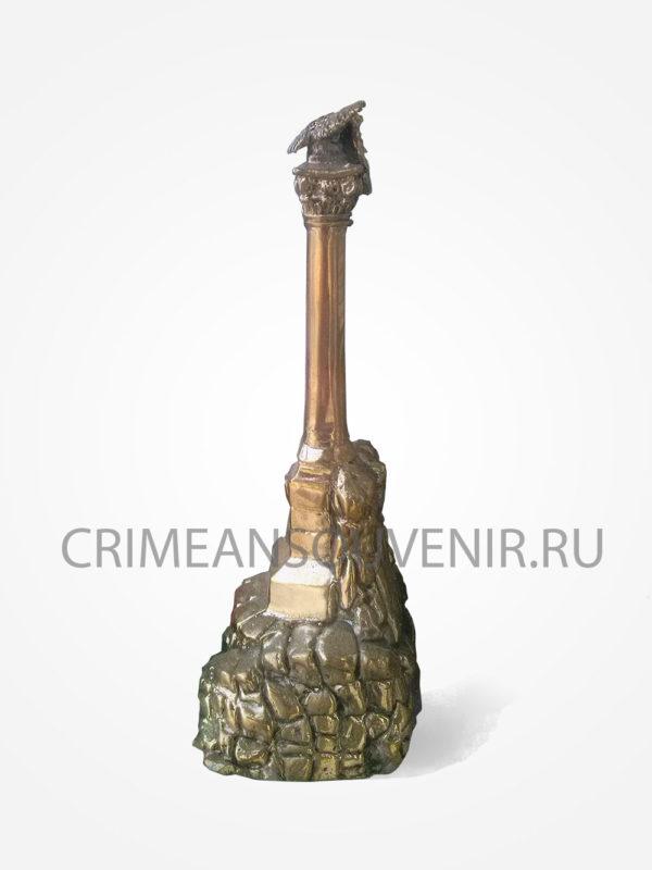 """Статуэтка """"Памятник затопленным кораблям"""" из латуни (15 см)"""