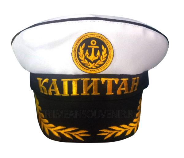 """Капитанка """"Капитан"""" с дубовыми веточками и кокардой-якорем"""