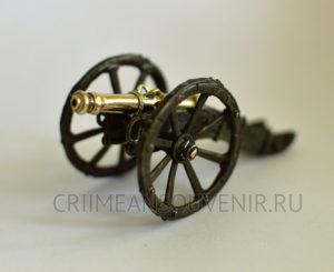 Пушка из латуни 8-ф. системы Грибоваля
