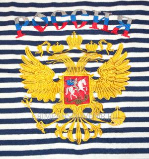 тельняшка с гербом России, двуглавым орлом